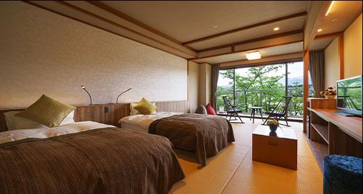 现代日式床铺客房