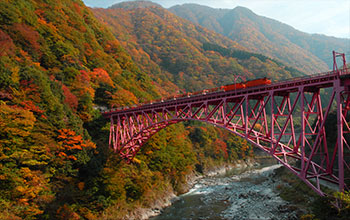 구로베협곡 광차열차